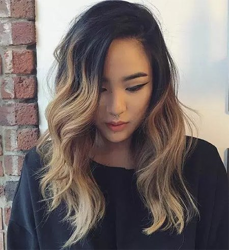 Ombre Wave Hair Cut