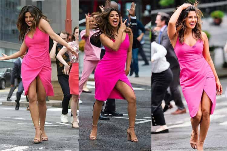 Priyanka Chopra Grooves In Pink