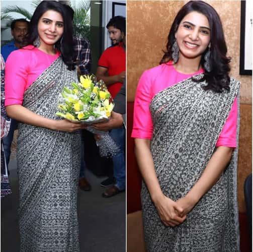 Samantha Ruth Prabhu Saree fashion