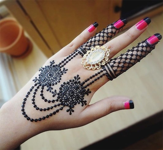 Beautiful Mehndi Designs for Fingers