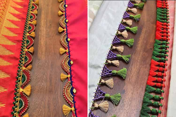 saree kuchu designs try tassels to give your drape a