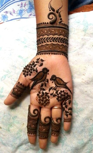 Birds Mehndi Designs