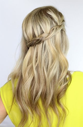 Grecian Waterfall Braid