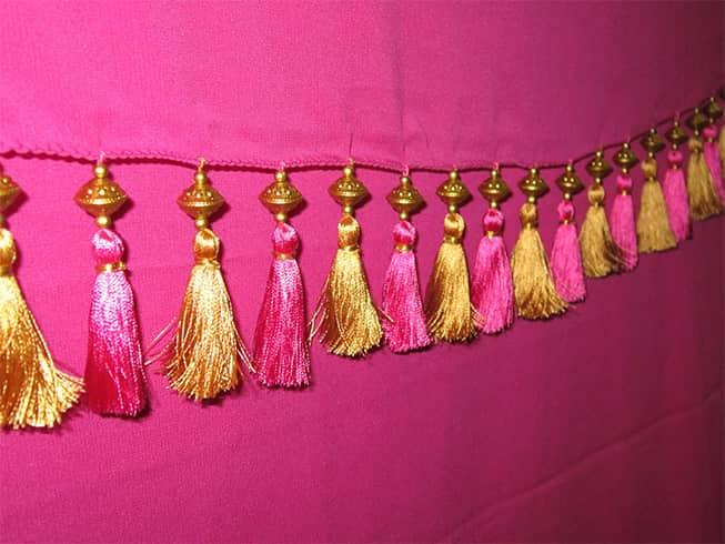 How To Make Beaded Saree Tassels