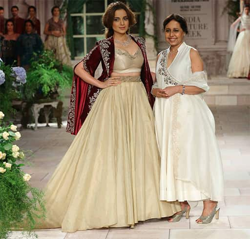 Kangana Ranaut for Anju Modi at ICW 2018