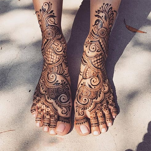 Mehndi Designs for Legs
