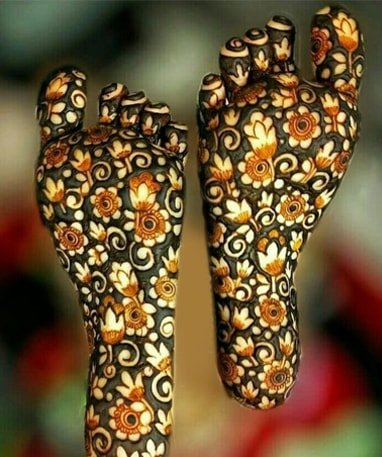 Mehendi For Foot