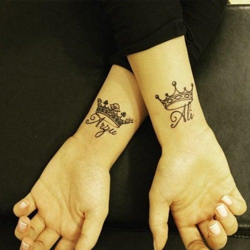 name tattoo on the wrist