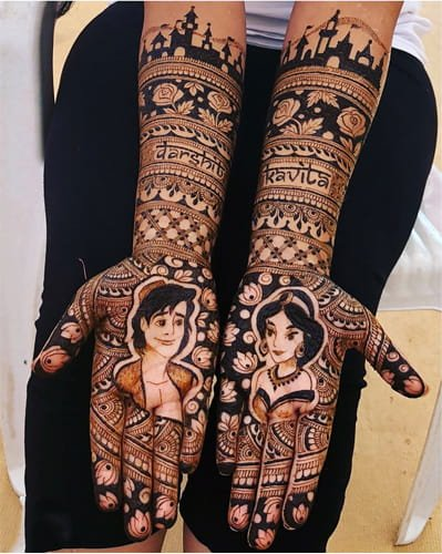 Names Mehndi Designs