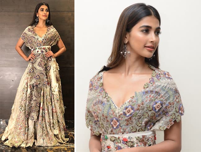 Pooja Hegde in Anamika Khanna outfit