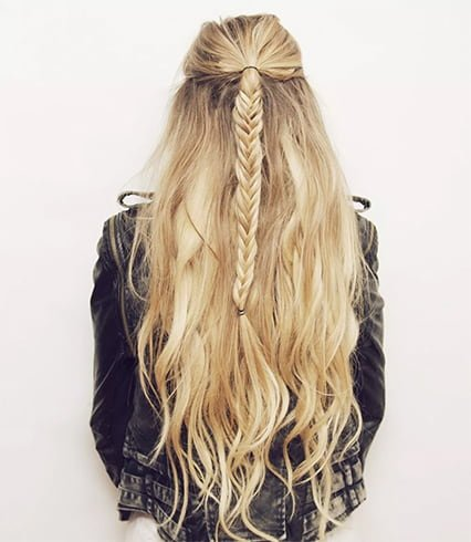 Semi Fishtail Updo