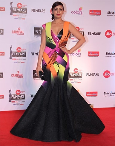Sonali Bendre in Amit Aggarwal Gown