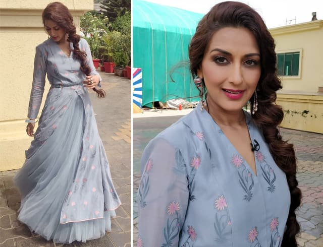 Sonali Bendre in Anita Dongre Dress