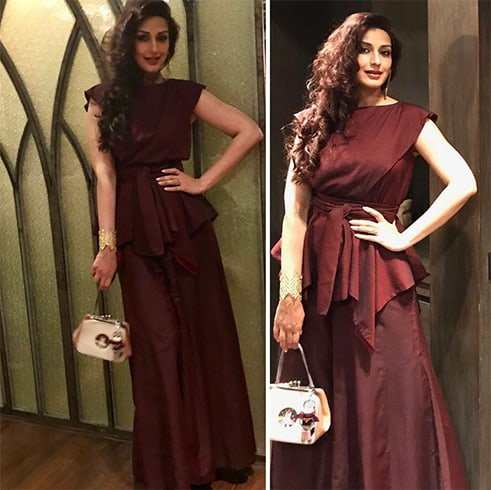 Sonali Bendre in Esha Amiin Gown