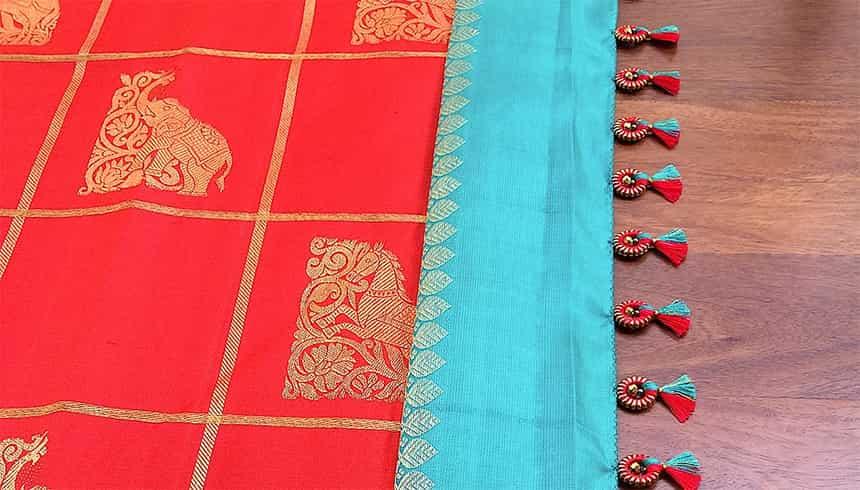 Traditional Saree Kuchu Designs