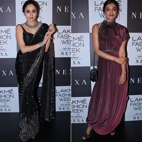 Amruta Khanvilkar and Kajal Aggarwal LFW 2018
