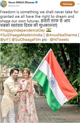 Anushka Sharma Independence Day Wishes