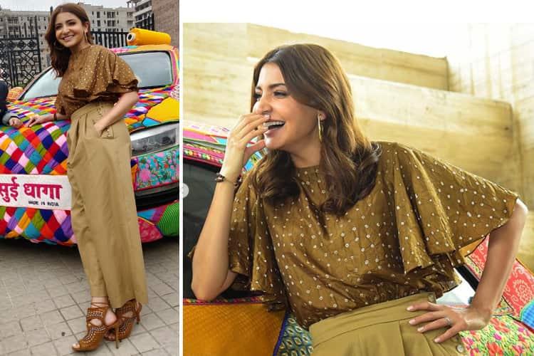 Anushka Sharma Sui Dhaaga Promotions