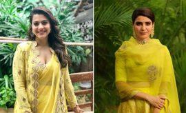 Celebrities in Yellow Dresses