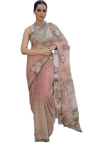 Floral Net Saree