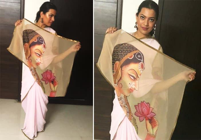 Geetha Madhuri in TheHLabel Saree