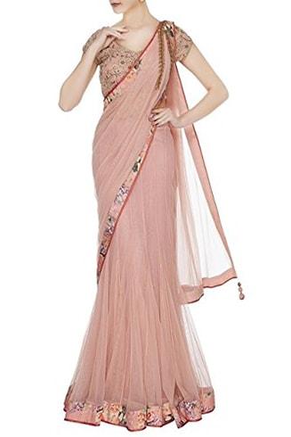 Lehenga Style Net Saree