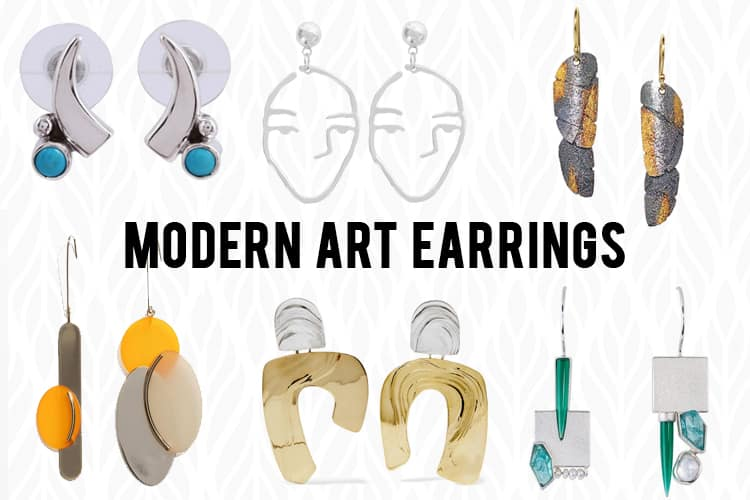 Modern Art Earrings