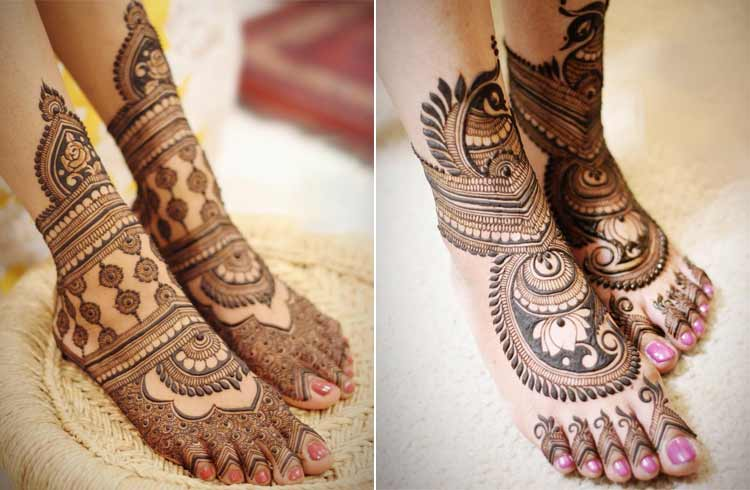 Mughlai Mehndi for Feet