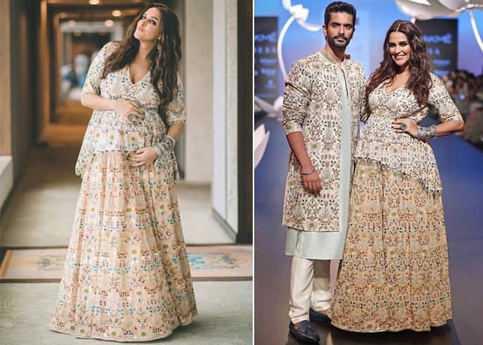 Neha Dhupia and Angad Bedi LFW 2018