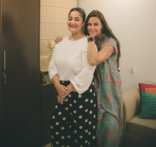Neha Dhupia with Sis-in-law
