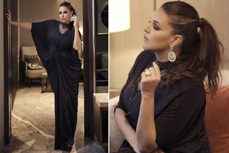 Neha Dhupia in Gurav Gupta Dress