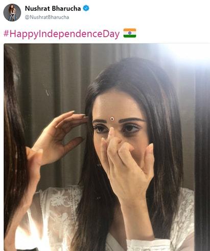 Nushrat Bharucha Independence Day Wishes