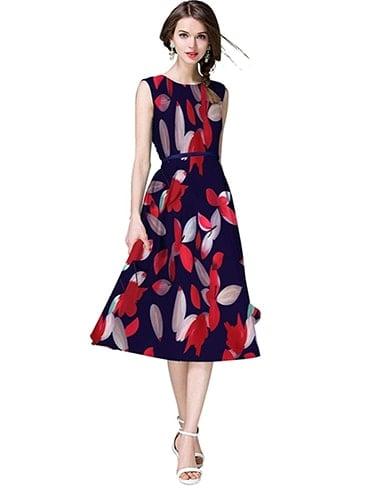 Playful Printed Dress