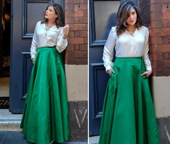 Richa Chadda in Raw Mango Skirt