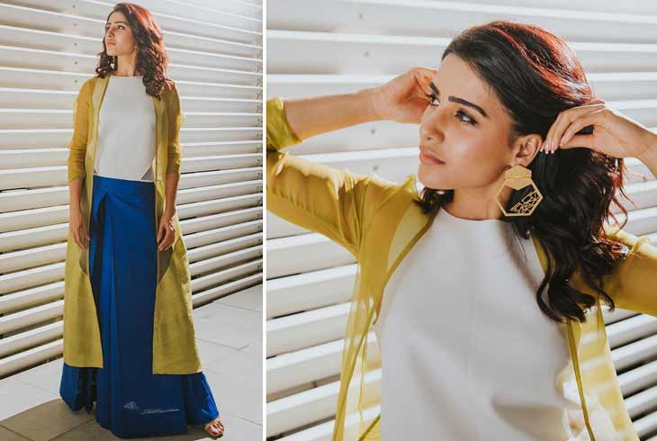 Samantha in Payal Khandwala Dress