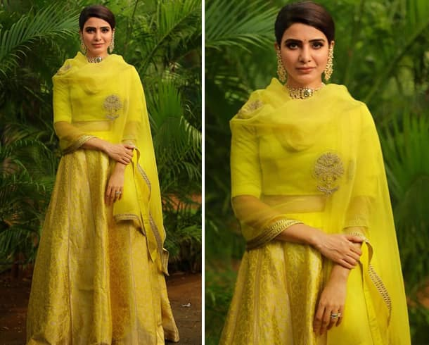Samantha Ruth Prabhu in Raw Mango Outfit