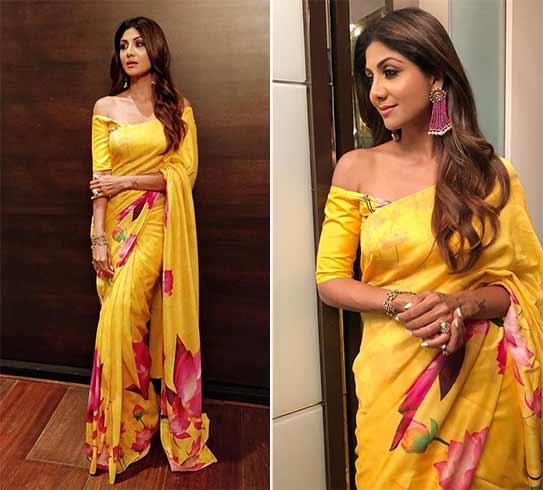 Shilpa Shetty in Masaba Gupta Sari