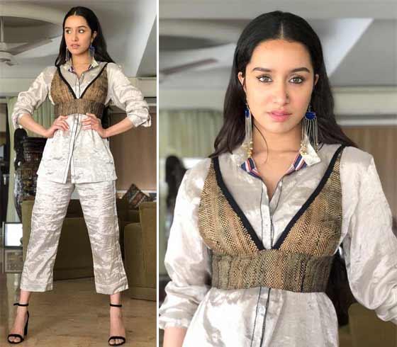 Shraddha Kapoor in Saakha Kinni pantsuit