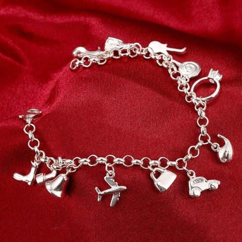 Silver Charms Bracelet