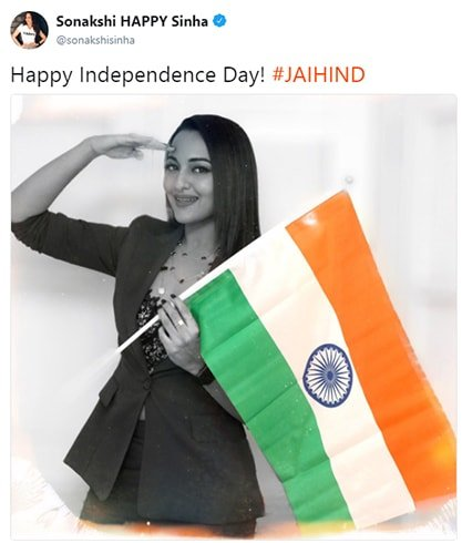 Sonakshi Sinha Independence Day Wishes