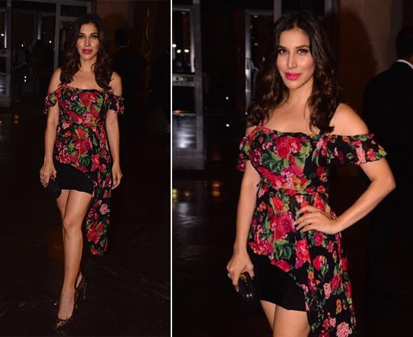 Sophie Choudry in BCBG Dress