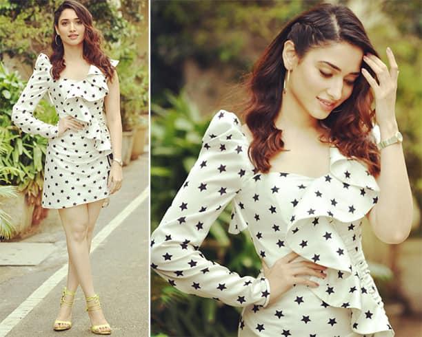 Tamannaah Bhatia Polka Dot Dress