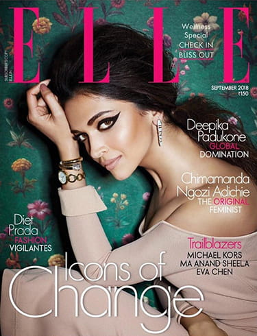 Deepika Padukone on Elle India Magazine
