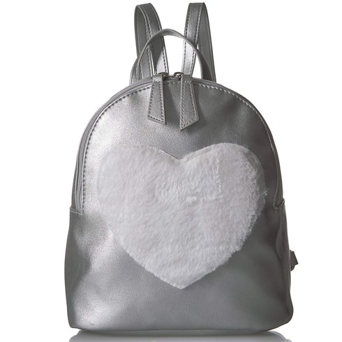 Faux Fur Heart Mini Backpack