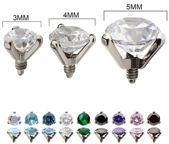 Jeweled Dermal Piercing Tops