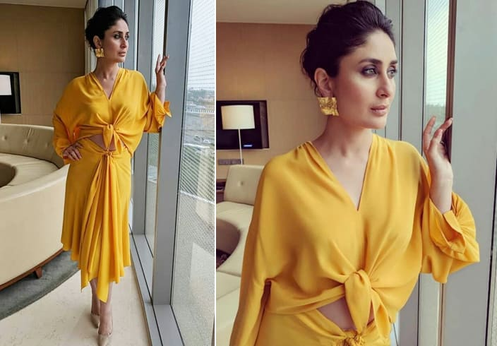 Kareena in marigold Dress