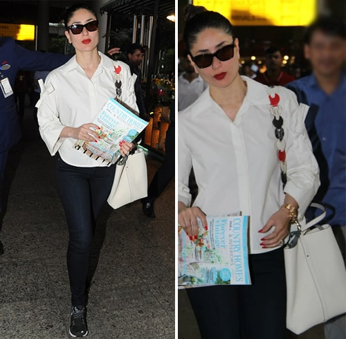 Kareena Spotted at Mumbai airport