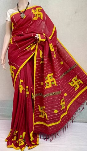 Khesh Cotton Applique Saree