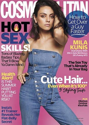 Mila Kunis for Cosmopolitan UK Cover