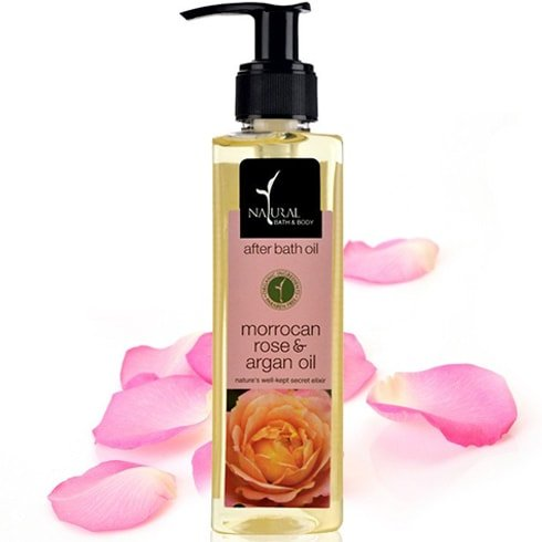 Natural Bath And Body Moroccan Rose And Argan After Bath Oil